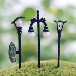 Nincs szín - 5db kerti dísz tündér babaház dekor miniatűr utcai fény kézműves növény edény