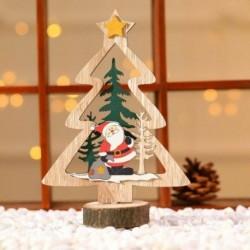 1db 18x6cm-es Télapó - Mikulás - Karácsonyfa mintás fa dísz - Karácsonyi dekoráció