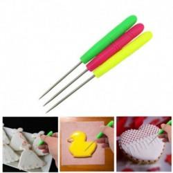 Nincs szín - Cookie Scribe Scriber Needle Sugarcraft fondant torta díszítő királyi jegesítő eszköz
