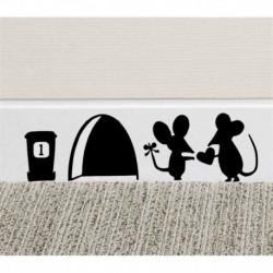 * 4 - WC-WC WC-matrica Vinyl Art kivehető fürdőszobai falfestmény Home DIY Decor