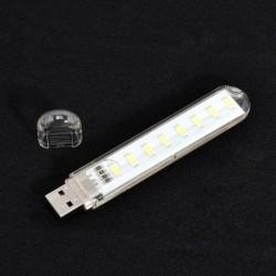 fehér - Mobile Power 8 LED LED lámpa USB LED lámpa világító számítógép Kis éjszakai fény