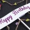 * 1 - LED gyöngy szív és csillag torta tetején Boldog születésnapot esküvői torta sütés party dekoráció ~