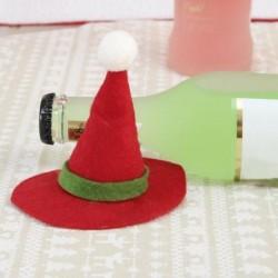* 5 Mini kalap - Télapó nadrág karácsonyi cukorka táskák bor harisnya üveg ajándék táska karácsonyi dekoráció