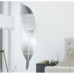 * 13 Ezüst toll - Kivehető tükör matrica művészeti falfestmény matricák otthoni szoba DIY dekoráció dekoráció