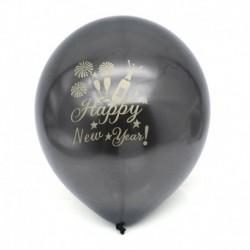 * 1 Fekete 10db 12 &quot (Boldog Új Y ... - 10X 2019 boldog új évet Latex Balloon Christmas Birthday Wedding Party Decor