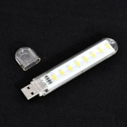 Meleg fehér - 8 LED-es mobil tápegység USB LED lámpa világító számítógép Kis LED lámpa éjszakai fény