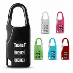 Nincs szín - Kombinált záras utazási lakat szekrény 3 számjegyű biztonsági bőrönd poggyásztáska tornaterem