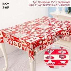 Négyzetrács - Karácsonyi PVC terítő letörölhető terítőlemez borító törölje le a tiszta vinilolaj ruhát