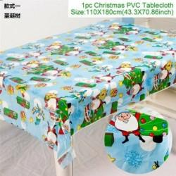 Karácsonyfa - WIPE CLEAN PVC VINYL Asztal ruházat étkező asztal borító védő többszörös tervek