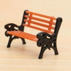 Nincs szín - 1db mini kerti dísz miniatűr park ülés pad kézműves tündér babaház dekoráció