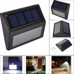 Nincs szín - 6 LED-es napelemes PIR mozgásérzékelő fali lámpa kültéri kerti lámpa vízálló