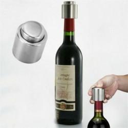 Nincs szín - Praktikus rozsdamentes acél vákuum borosüveg dugó dugó palack kupak szivattyú tömítőanyag ÚJ