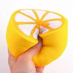 1db Jumbo fél citrom - Squishy Squeeze Reális lassan növekvő varázskollekció Stresszoldó szórakoztató játék