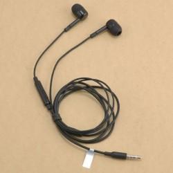 Fekete - 3,5 mm-es sztereó fülbe helyezhető fülhallgató fülhallgató fülhallgató Samsung Xiaomi iPhone készülékhez
