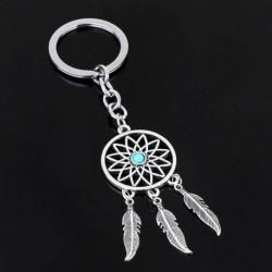 Nincs szín - Új ezüst kulcstartó tollbojtok álomfogó kulcstartó kulcstartó gyűrűs ajándék