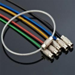 Nincs szín - 5db drót kulcstartó kábel kulcstartó szabadtéri túrázási túlélési felszerelés rozsdamentes acél