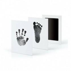 Fekete - Baba kéz- és lábnyom tintapatronok mancsnyomó festékkészletek baba és háziállatok ajándékához