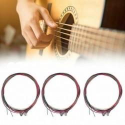 Nincs szín - 1 készlet 6db gitárhúrok acél húrokhoz az USA akusztikus gitárjához
