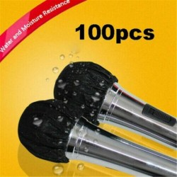 Nincs szín - 100db / táska mikrofon higiéniai borító szageltávolítás eldobható Mike szivacs UK !!