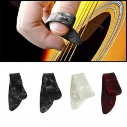 Nincs szín - 1 készlet 3 ujjválogató   1 hüvelykujj választó plektrum gitár műanyag készlet