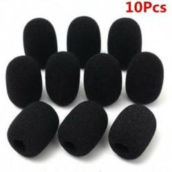 Nincs szín - 10PCS mikrofonos fülhallgató grillező szélvédő szűrők szivacshab fekete mikrofon fedél USA