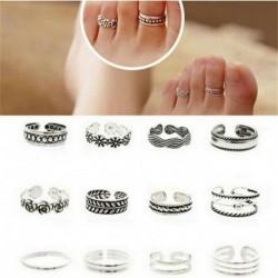 12db szett ezüst - 12db ezüst / arany Boho verem sima csülök felett Midi ujj gyűrűk készlet ajándék