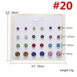 * 20 12 pár / tétel - 24 pár divat női strasszos kristály gyöngy fülbevaló ékszer ajándék