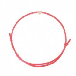 Piros - Szív karkötő kézzel készített többszínű kötél állítható húr szerencsés karperec ékszer