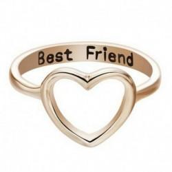 Arany - Divat nők szeretik a szív legjobb barát gyűrű ígéretet ékszer barátság gyűrűk ajándék