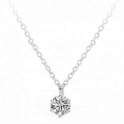 Ezüst - Luxus kristály medál 925 ezüst lánc nyaklánc női női ékszer ajándék USA
