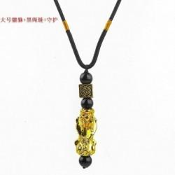 * 1 - A Feng Shui fekete obszidián gyöngyök Pi Xiu nyaklánc medálok vonzzák a gazdag ékszereket!