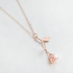 60 * Rózsa arany rózsa - Divat női többrétegű choker gallér medál lánc előke nyaklánc Boho ékszerek