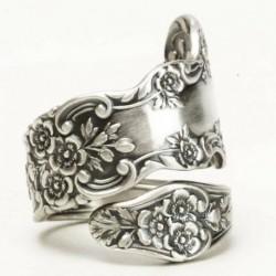 Nincs szín - Amerikai divatrózsa virág 925 ezüst ékszer esküvői gyűrű női gyűrű 6-11 méretű