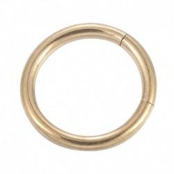 Arany-8mm - Sebészeti acél septum csattogó orrgyűrű csuklópánt szegmens Fül Helix Tragus gyűrű karika