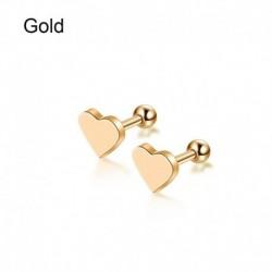 Arany - 2db Piercing Tragus fülbevaló porc Helix szív alakú fülbevalók ékszer ajándék