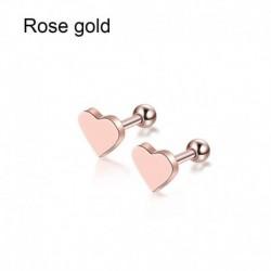 Rózsa arany - 2db Piercing Tragus fülbevaló porc Helix szív alakú fülbevalók ékszer ajándék