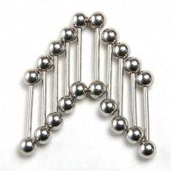 Ezüst 10db acélcső - Divat női kristály strassz orr gyűrű csont csavar test testpiercing ékszer ajándék