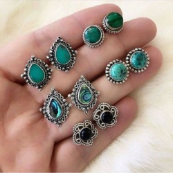 * 14 5Párok / készlet - 24Pair női divat strasszos kristály gyöngy fülbevaló ékszer ajándék