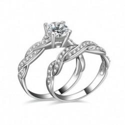 9. - Női Lady Gemstone CZ esküvői eljegyzési gyűrű szett gyűrűk 6-9 méretű ékszerek