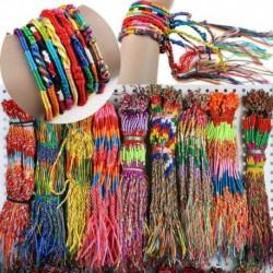 Nincs szín - 10db String Lucky színes barátságos fonatszál kézzel készített karkötő karkötő