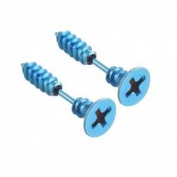 Kék - 2 db Unisex Punk rozsdamentes acél csavaros fülbevaló női férfi fülbevaló ékszer