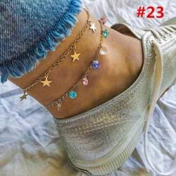 * 23 - Boho bokaváz karkötő Strand teknős gyöngy tengeri csillag kristály gyöngy lánc karkötő