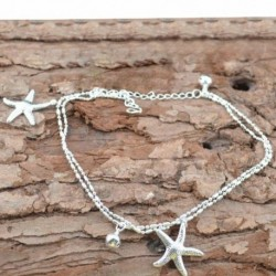 * 18 - Boho bokaváz karkötő Strand teknős gyöngy tengeri csillag kristály gyöngy lánc karkötő