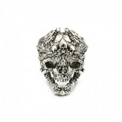 10. - Divat férfi rozsdamentes acél ezüst hűvös gótikus punk koponya ujj gyűrűk ékszerek