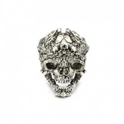 8. - Divat férfi rozsdamentes acél ezüst hűvös gótikus punk koponya ujj gyűrűk ékszerek