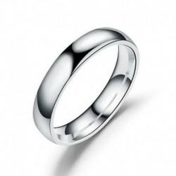 10. - 4 mm rozsdamentes acél férfi női esküvői eljegyzés fényes tükörrel csiszolt gyűrű
