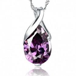 Nincs szín - Drágakő természetes kristály gyógyító pont csakra kő ametiszt medál ékszer ajándék