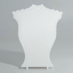 fehér - Műanyag nyaklánc medál fülbevaló ékszer mellszobor mini kijelző tartó állvány kirakat