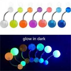 * 2 7db / készlet - 10db testpiercing ékszerek világító fényű akril műanyag súlyzó nyelvrúd