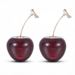cseresznye * 2 - Női citromos cseresznye gyümölcs zöldségek fül fülbevalók medál Dangle ékszerek